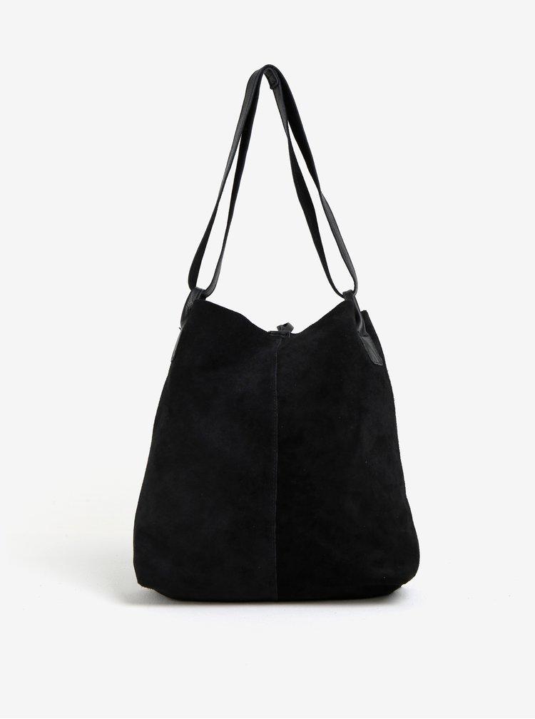 Černý semišový shopper ZOOT