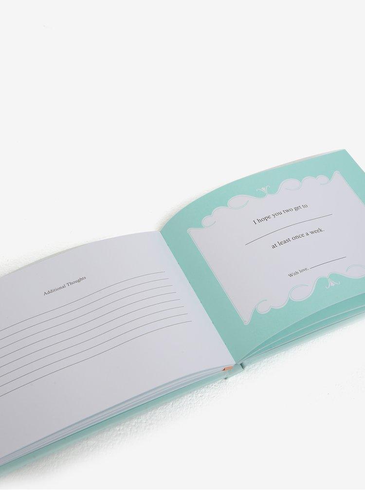 Světle zelený svatební deník Knock Knock