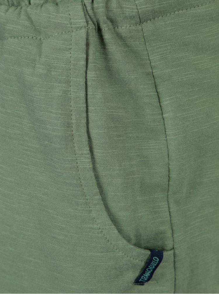 Rochie verde cu talie elastica Tranquillo Lana