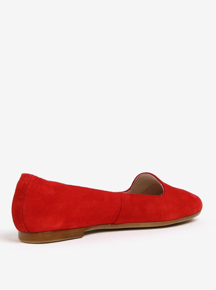 Červené semišové baleríny OJJU