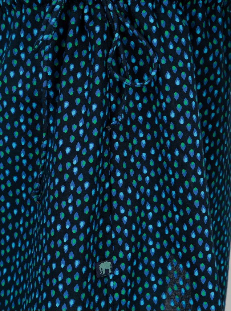 Tyrkysové šaty se stahováním na bocích Tranquillo Phelia