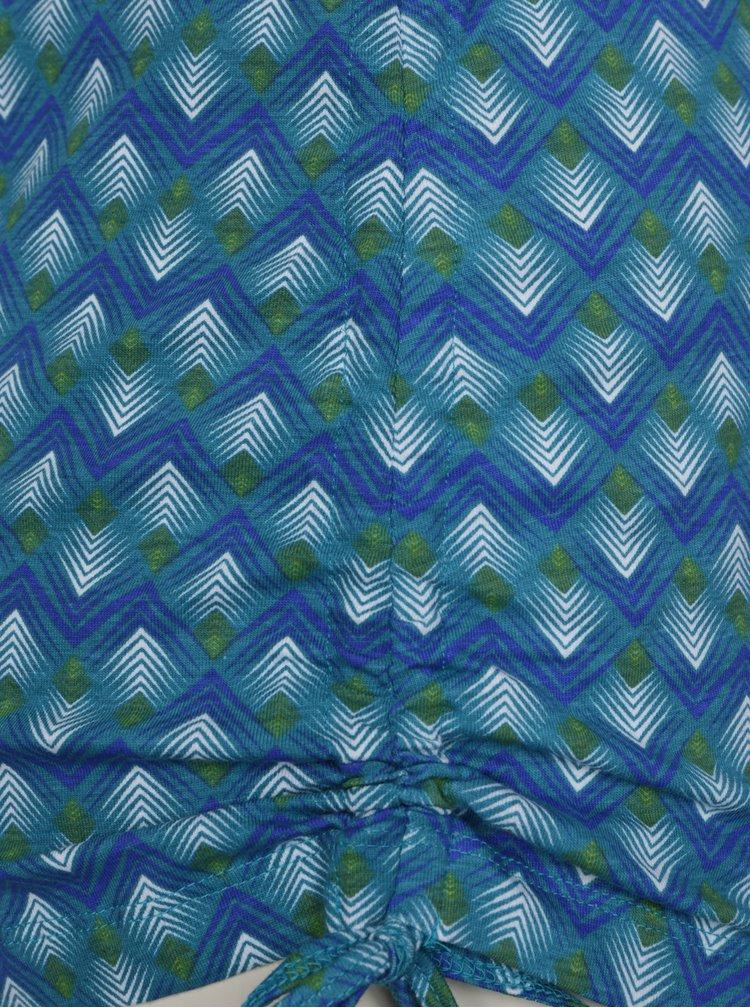 Tricou turcoaz cu print geometric Tranquillo Encalypta