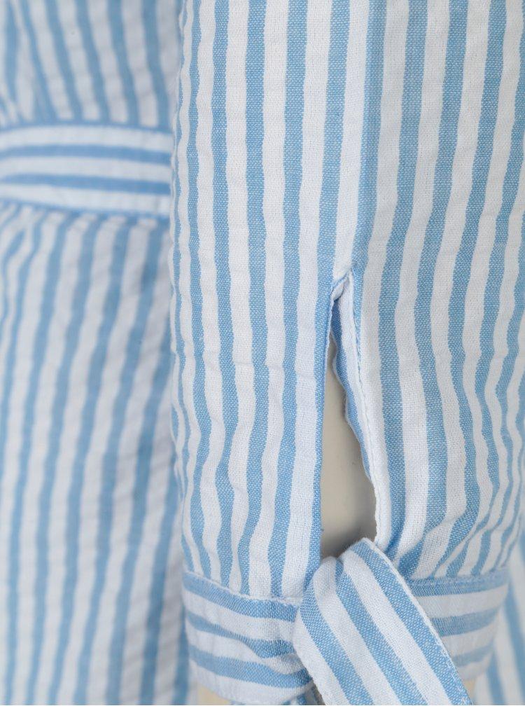 Modro-bílé pruhované košilové šaty Dorothy Perkins