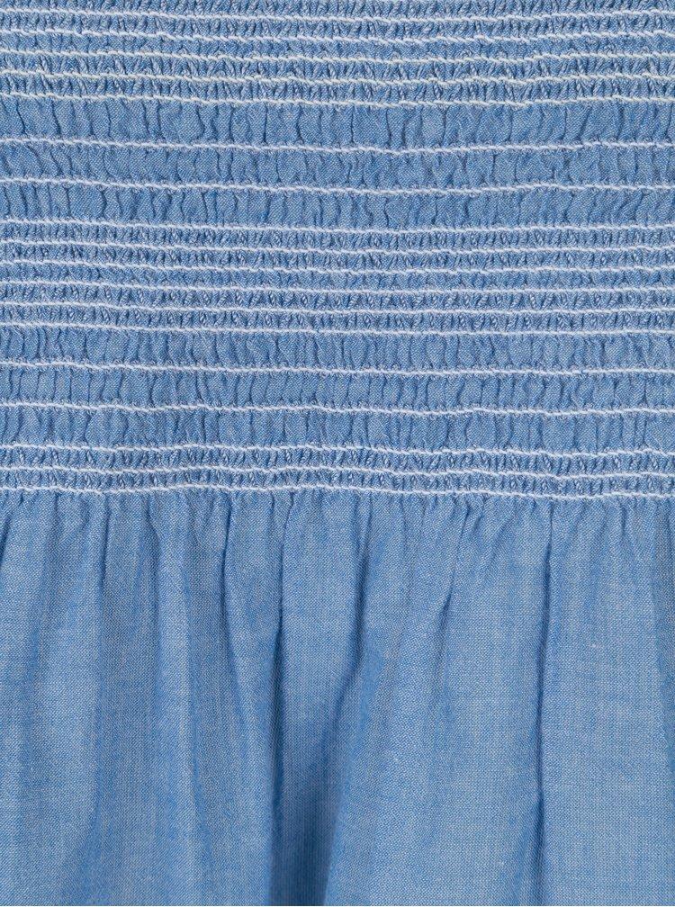 Modrá dámská halenka s řasením Dorothy Perkins