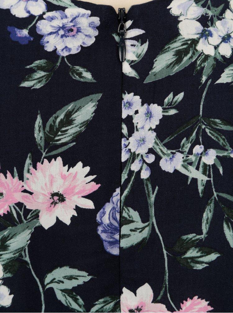Tmavě modrý květovaný overal s páskem Dorothy Perkins Petite