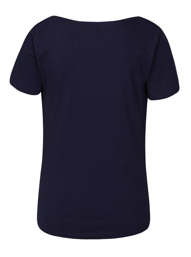 Tricou bleumarin cu decolteu drapat Tranquillo Vitisa