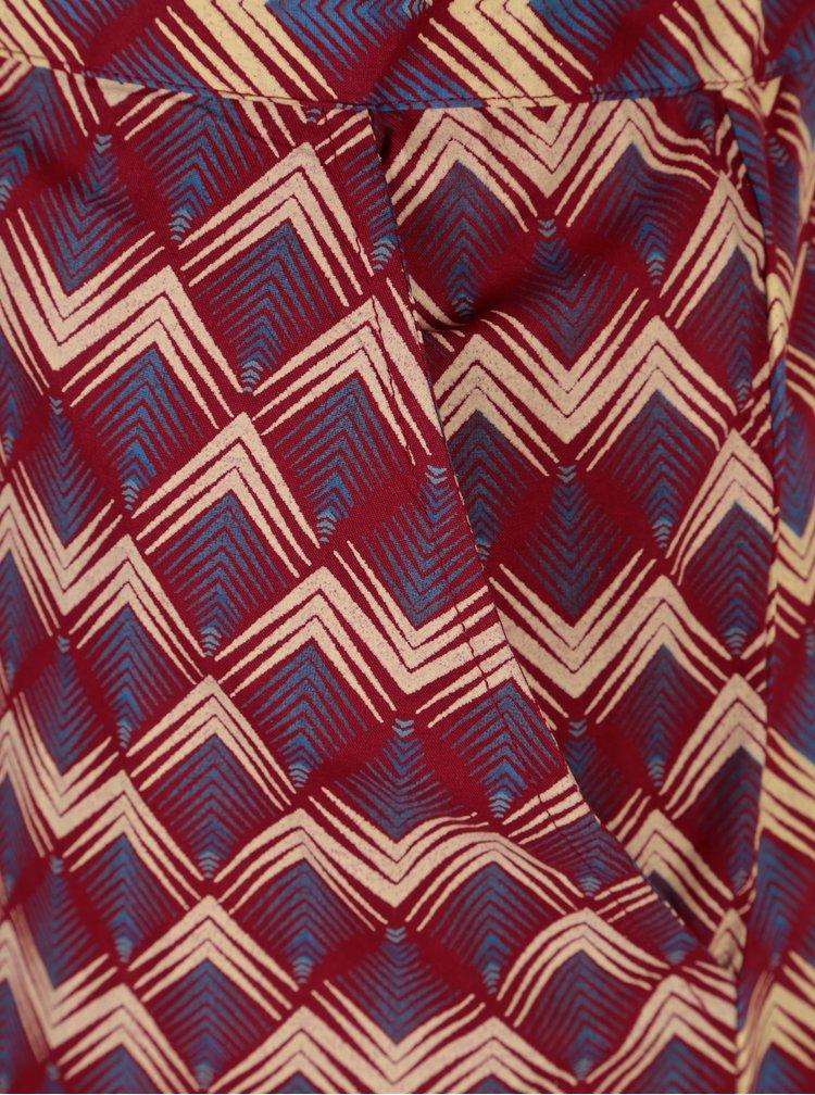Rochie bordo cu print geometric Tranquillo Catalpa