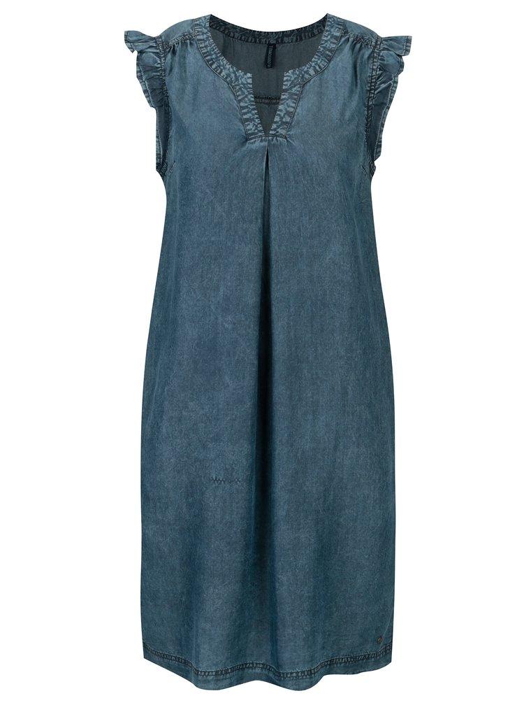 Modré šaty s kasami Tranquillo Salvia