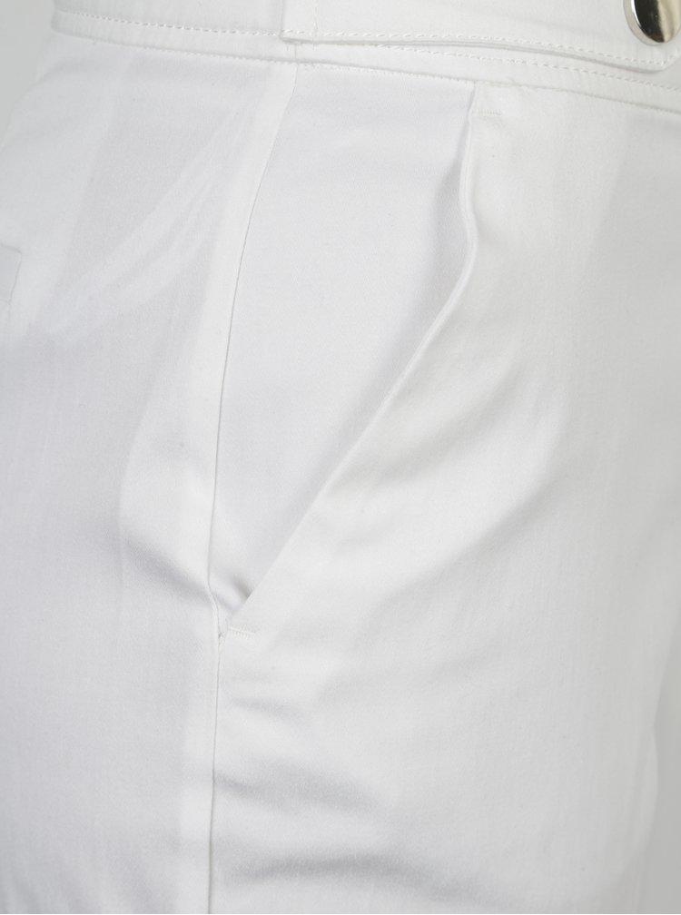 Biele skrátené nohavice Dorothy Perkins