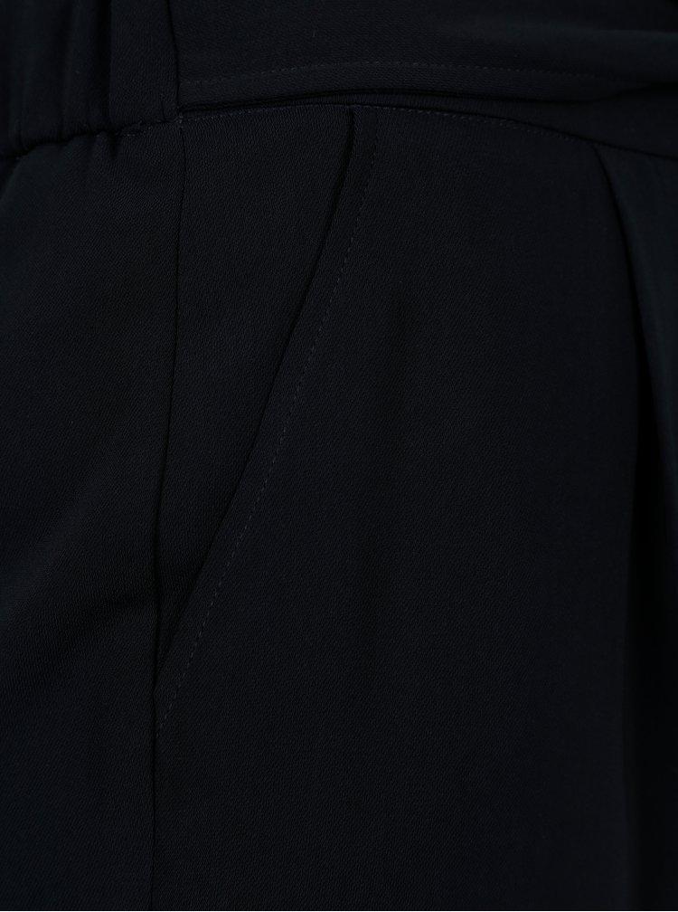 Tmavě modré kalhoty se zavazováním v pase Dorothy Perkins