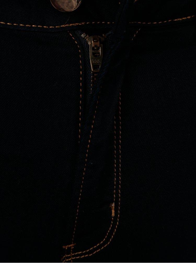 Tmavě modré zkrácené super skinny džíny Dorothy Perkins