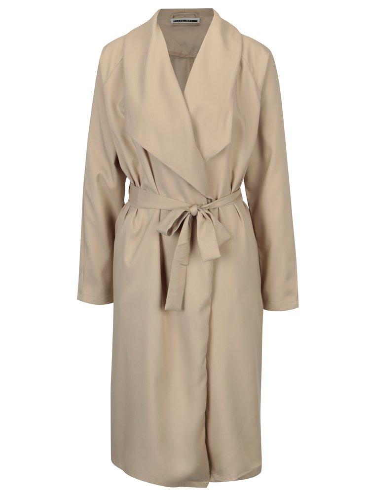 Béžový lehký kabát se zavazováním Noisy May Fia