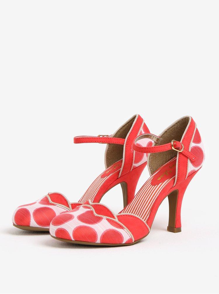Pantofi crem-rosu Ruby Shoo Phoebe