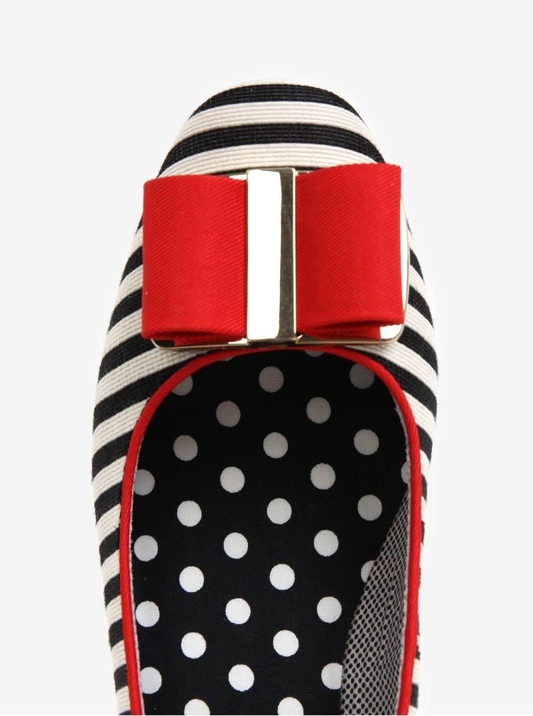 Krémovo-černé lodičky na nízkém podpatku Ruby Shoo June