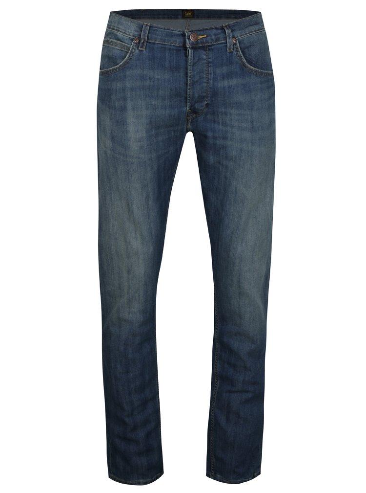 Blugi regular fit albastri cu aspect prespalat pentru barbati - Lee Daren