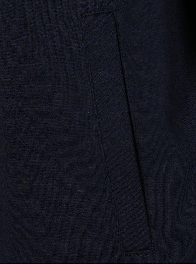 Tmavě modrý mikinový žíhaný bomber Selected Homme Mason
