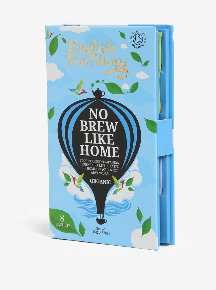Modré dárkové cestovní balení sáčků pro muže bio English Tea Shop