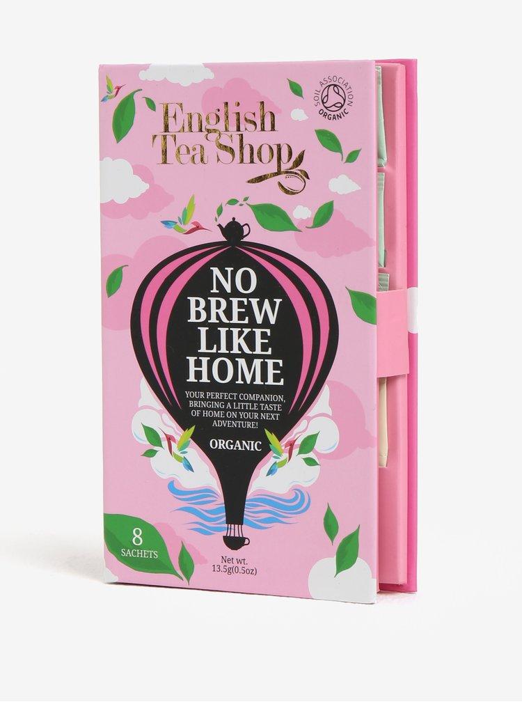 Růžové dárkové cestovní balení sáčků pro dámy bio English Tea Shop
