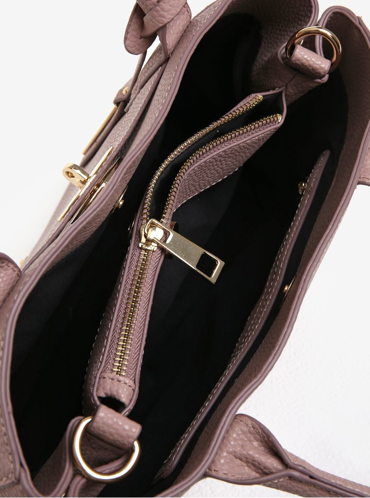Růžová koženková kabelka Juno