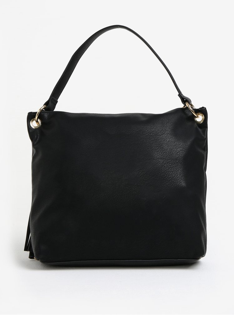 Černá koženková kabelka Juno