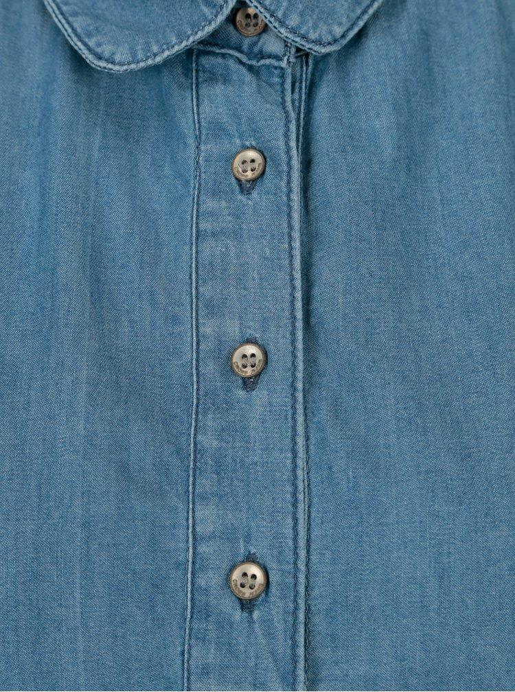 Modré šaty s kapsami Cross Jeans