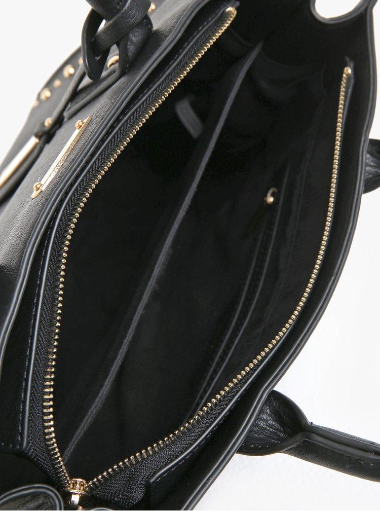 Čierna kabelka s aplikáciou v zlatej farbe Juno