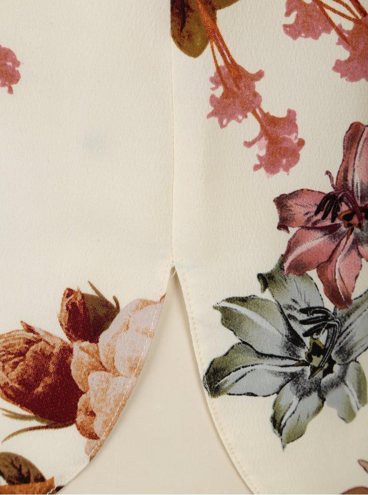 Krémová květovaná halenka Dorothy Perkins