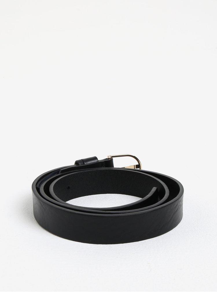 Černý dámský kožený pásek Tommy Hilfiger