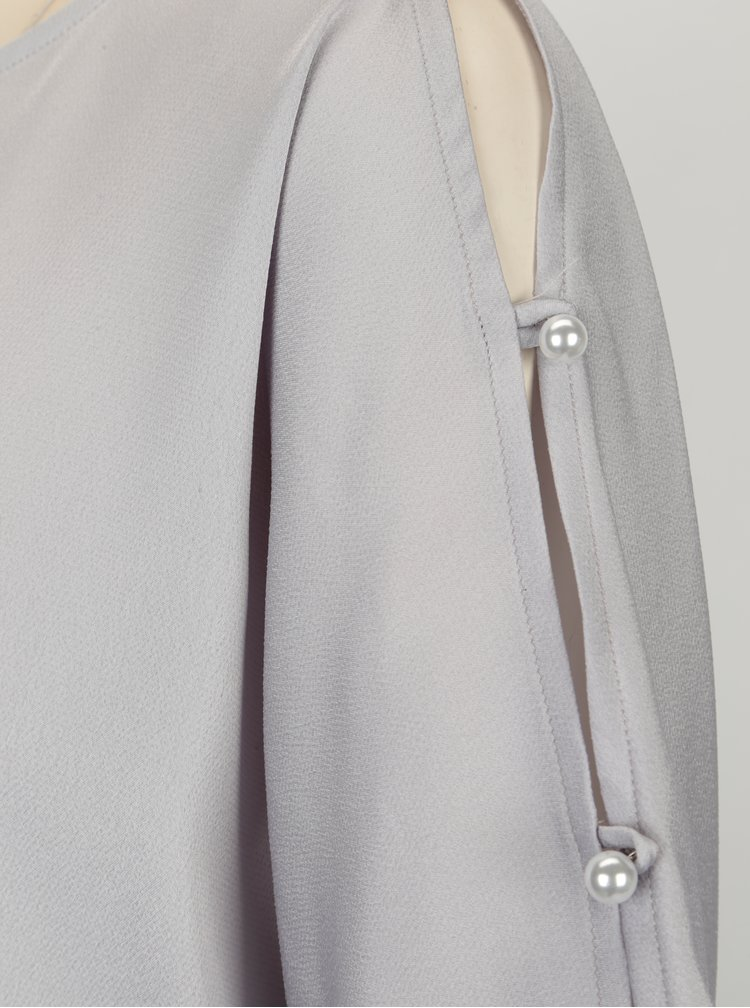 Světle fialová halenka s průstřihy na ramenou Dorothy Perkins
