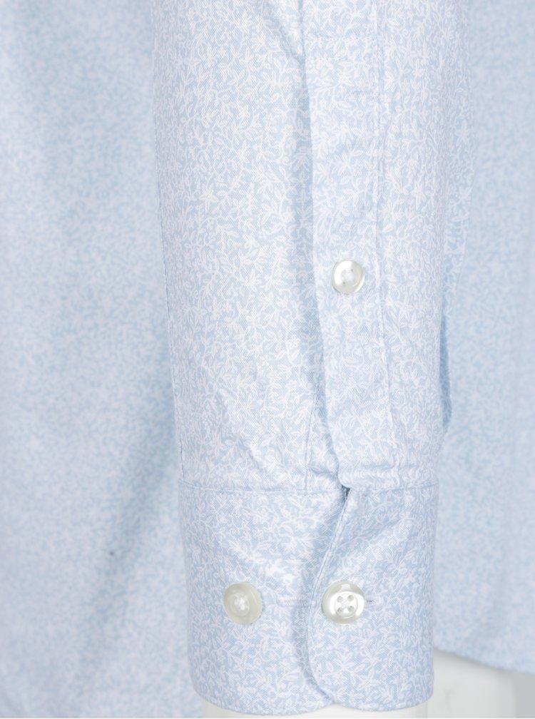 Světle modrá vzorovaná slim fit košile Selected Homme One New