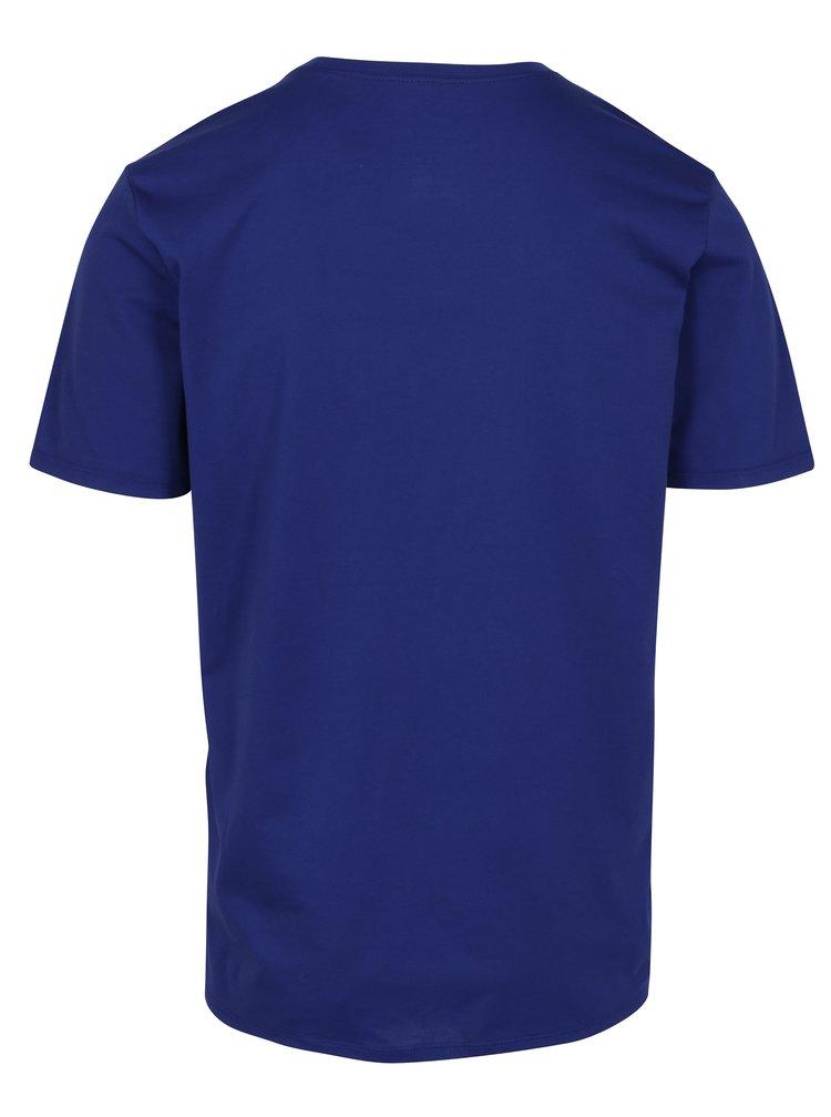 Tmavě modré pánské funkční tričko s černým potiskem Nike
