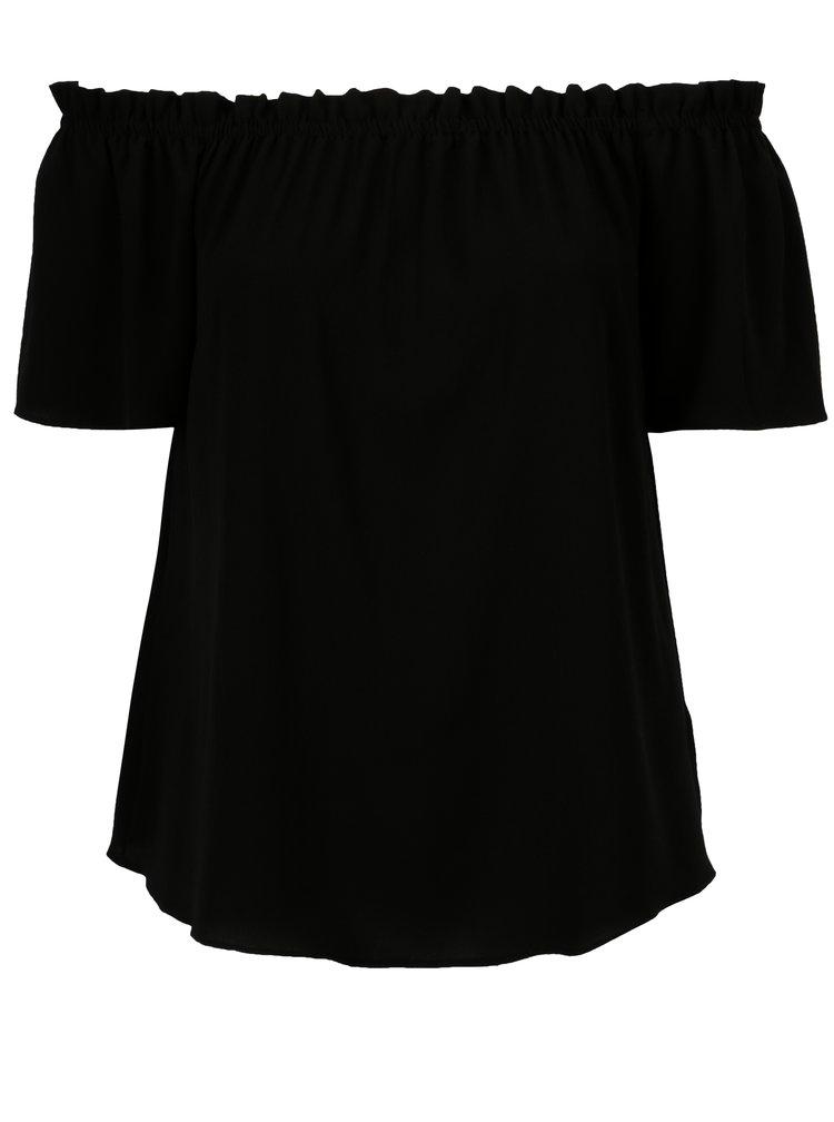 Černá halenka s odhalenými rameny Dorothy Perkins Curve