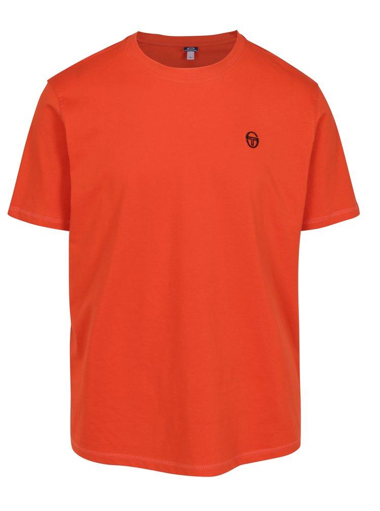 Oranžové pánské tričko s výšivkou Sergio Tacchini Daiocco