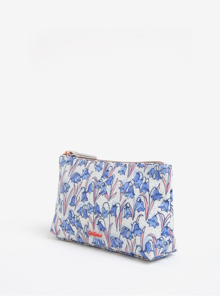 Modro-krémová kosmetická taštička s motivem zvonků Cath Kidston