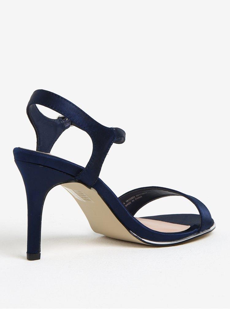 Tmavě modré sandály na vysokém podpatku Dorothy Perkins