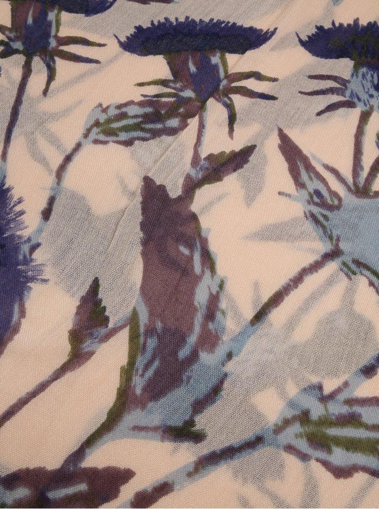 Béžový květovaný šátek Dorothy Perkins