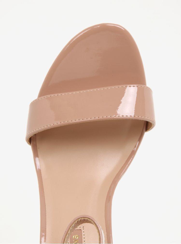 Světle růžové lesklé sandálky Dorothy Perkins