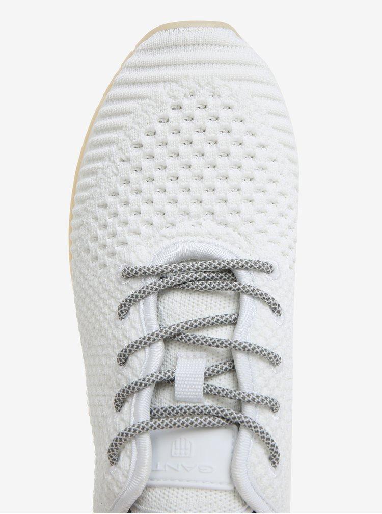 Bílé dámské perforované tenisky GANT Linda