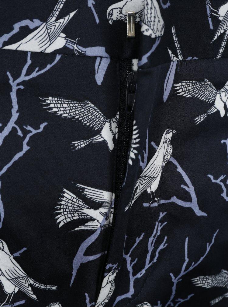 Tmavě modré chino kalhoty s potiskem Jack & Jones Ace