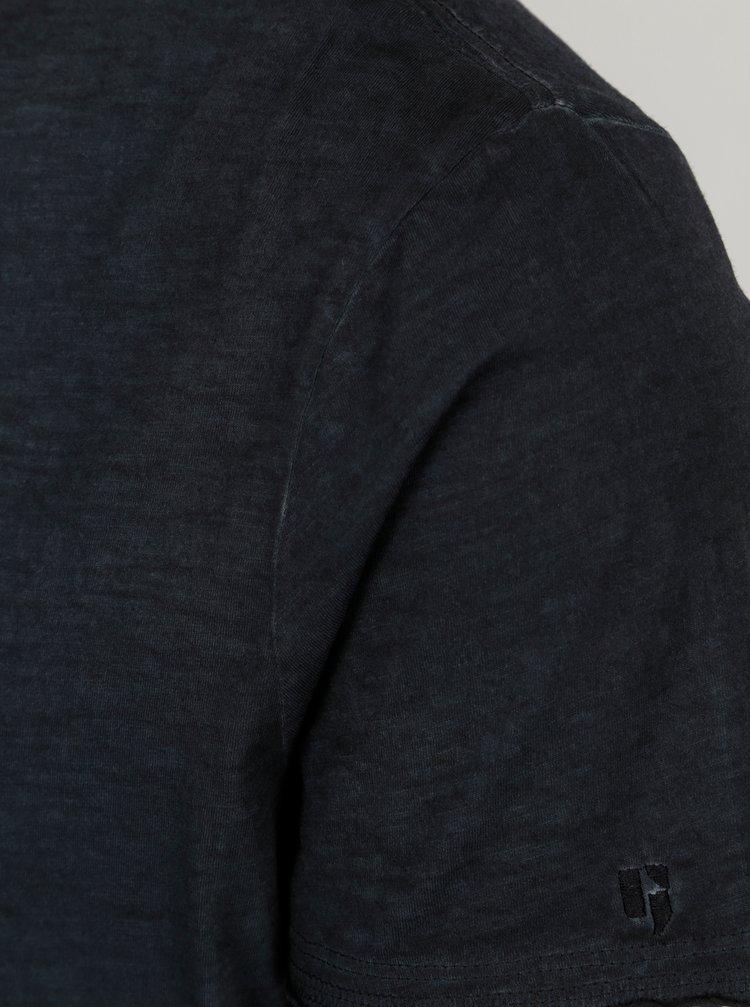Tricou albastru melanj - Garcia Jeans Marco