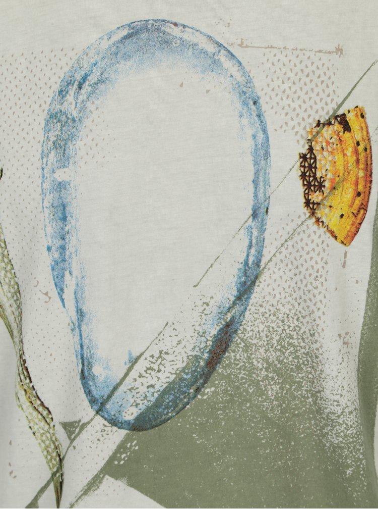 Světle zelené pánské tričko s potiskem Garcia Jeans Heren