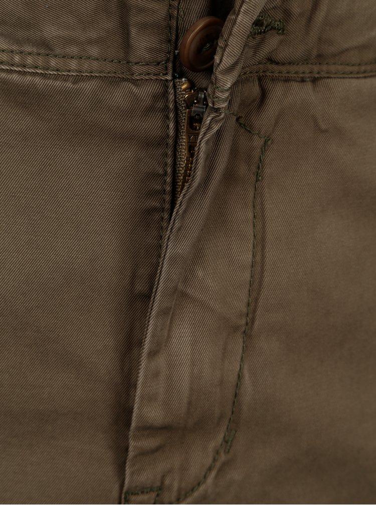 Khaki pánské slim fit chino kraťasy Garcia Jeans Santo