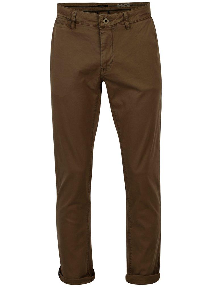 Khaki pánské slim fit chino kalhoty Garcia Jeans Savio