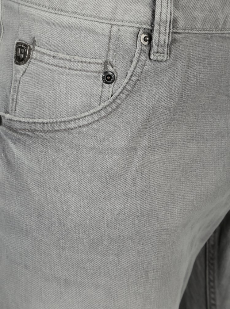 Šedé pánské regular fit džíny s vyšisovaným efektem Garcia Jeans Russo