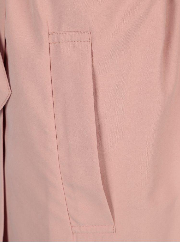 Světle růžový lehký trenčkot Yerse