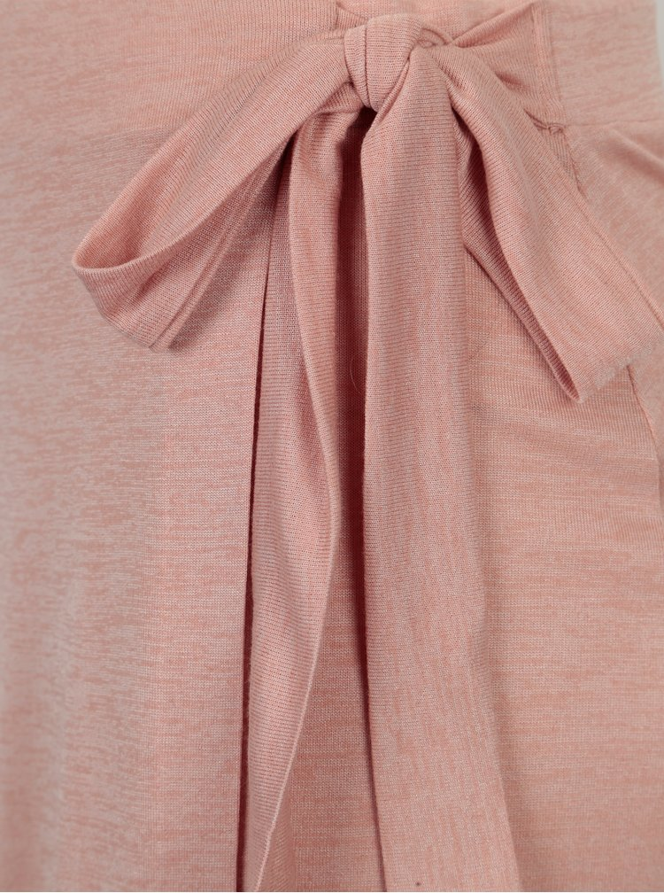 Světle růžová zavinovací sukně Yerse