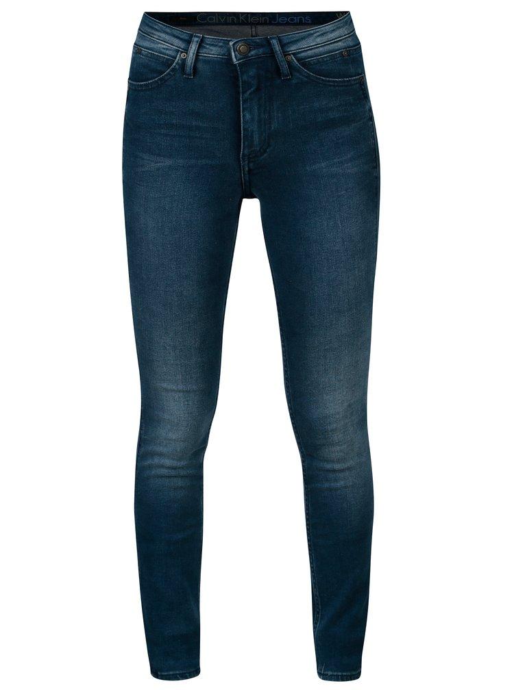Tmavě modré skinny džíny Calvin Klein Jeans