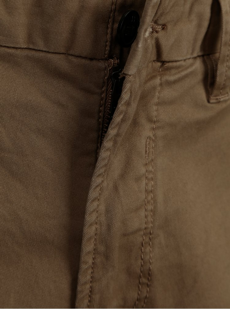 Hnedé chino nohavice s opaskom Jack & Jones Spencer