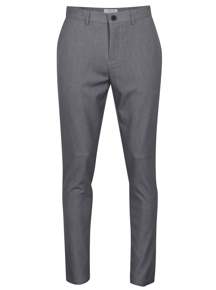 Pantaloni elastici gri cu buzunare - Lindbergh