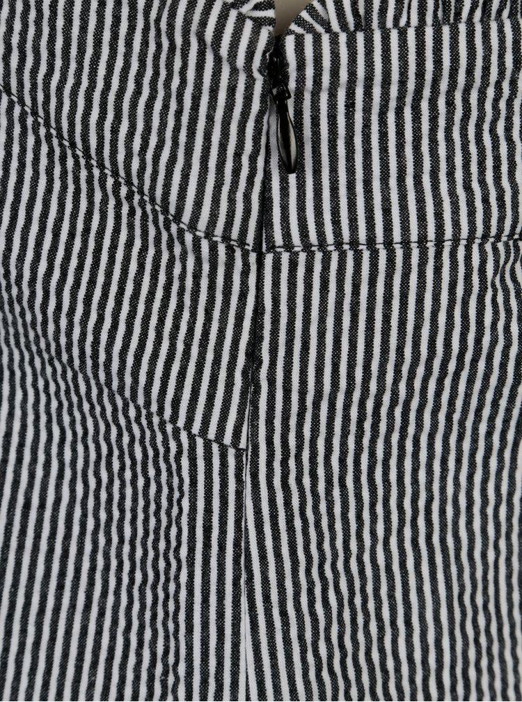 Tmavě šedý pruhovaný top Yerse